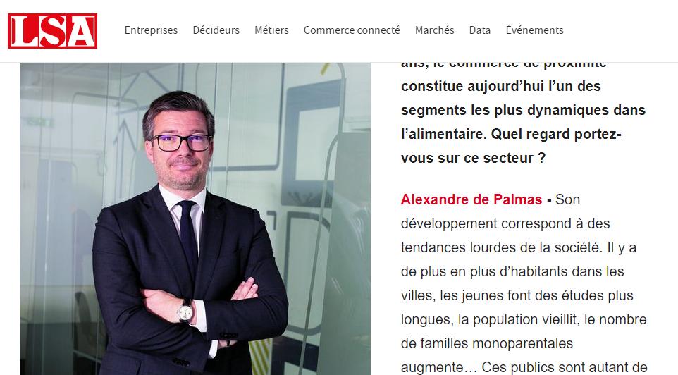 Alexandre de Palmas, Rédacteur en chef invité de LSA